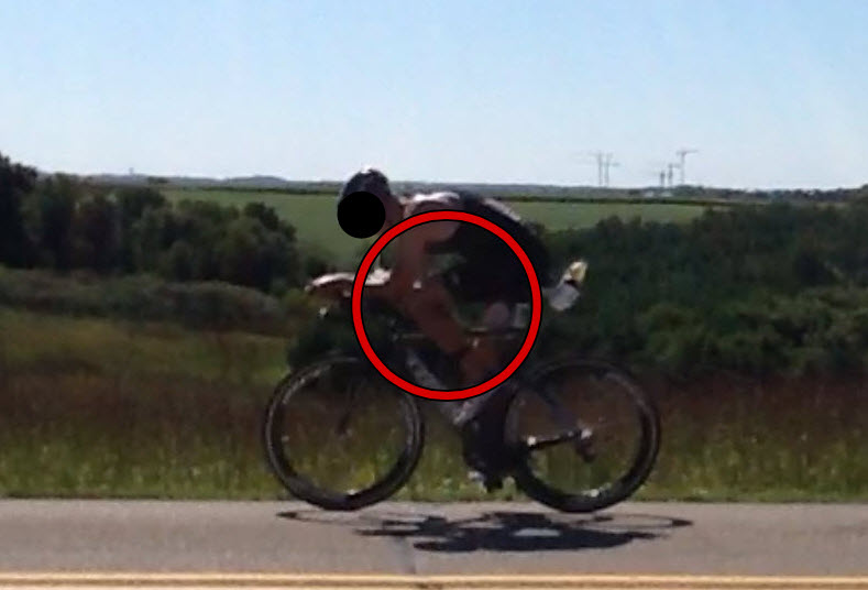 """Top of pedal stroke causing too high of a knee lift and having to """"hiccup"""" over the pedal stroke."""