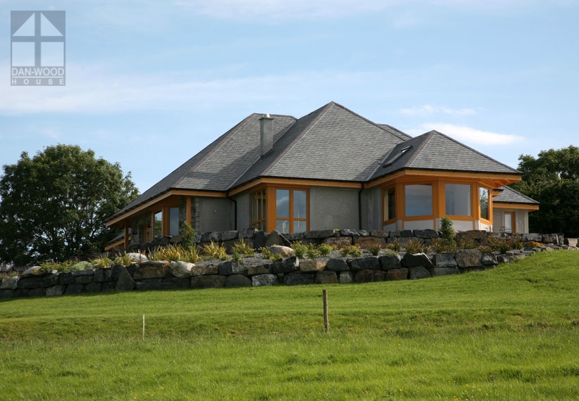 A stone-faced bespoke Dan-Wood house in Scotland  For more designs see the  home page here.