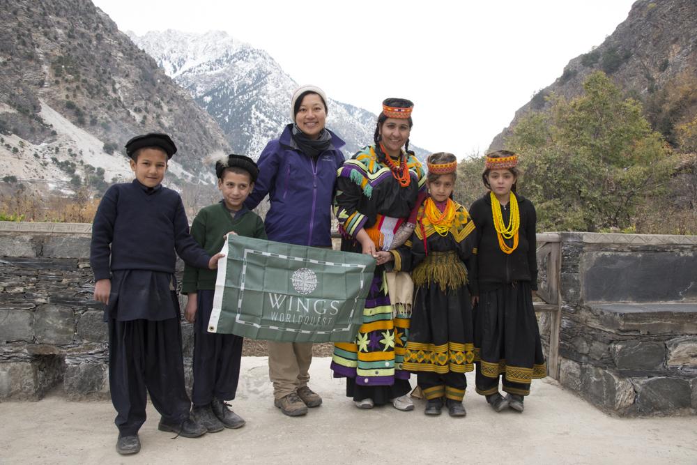 WINGS WORLDQUEST Flag Bearer. Kalash Valley, Pakistan. 2014.