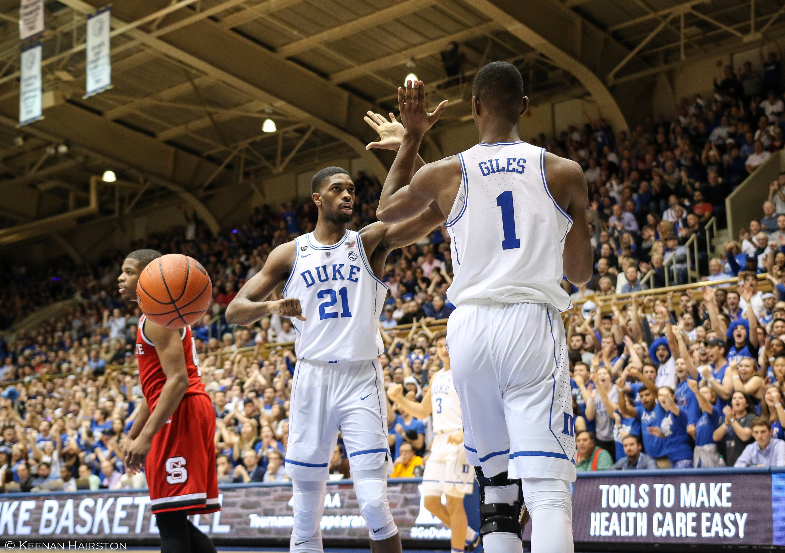 Harry Giles & Amile Jefferson :: Duke Men's Basketball :: Photo by Keenan Hairston.jpg