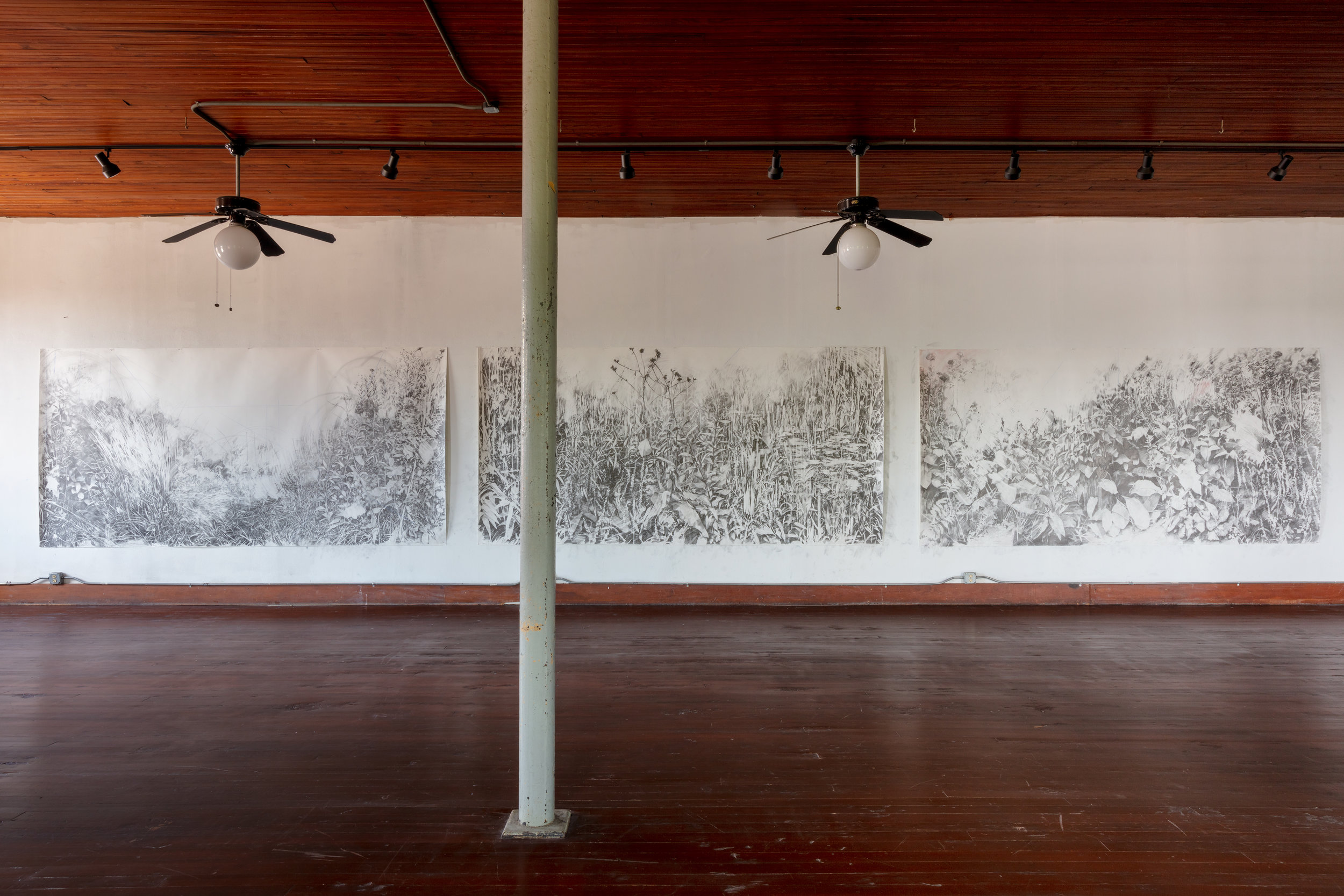 Voids , installation at 100W Corsicana artist and writer residency. 2019. Image by Kevin Todora