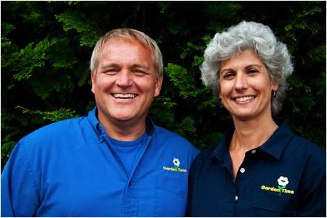 Judy Alleruzzo and Bill McClenathan of Garden Time TV