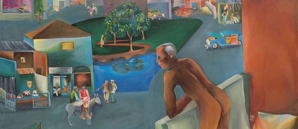 Bhupen Khakhar,You can't please all, 1981, Oil on canvas, 167 x 167 cms-WEB-i-thumb.jpg