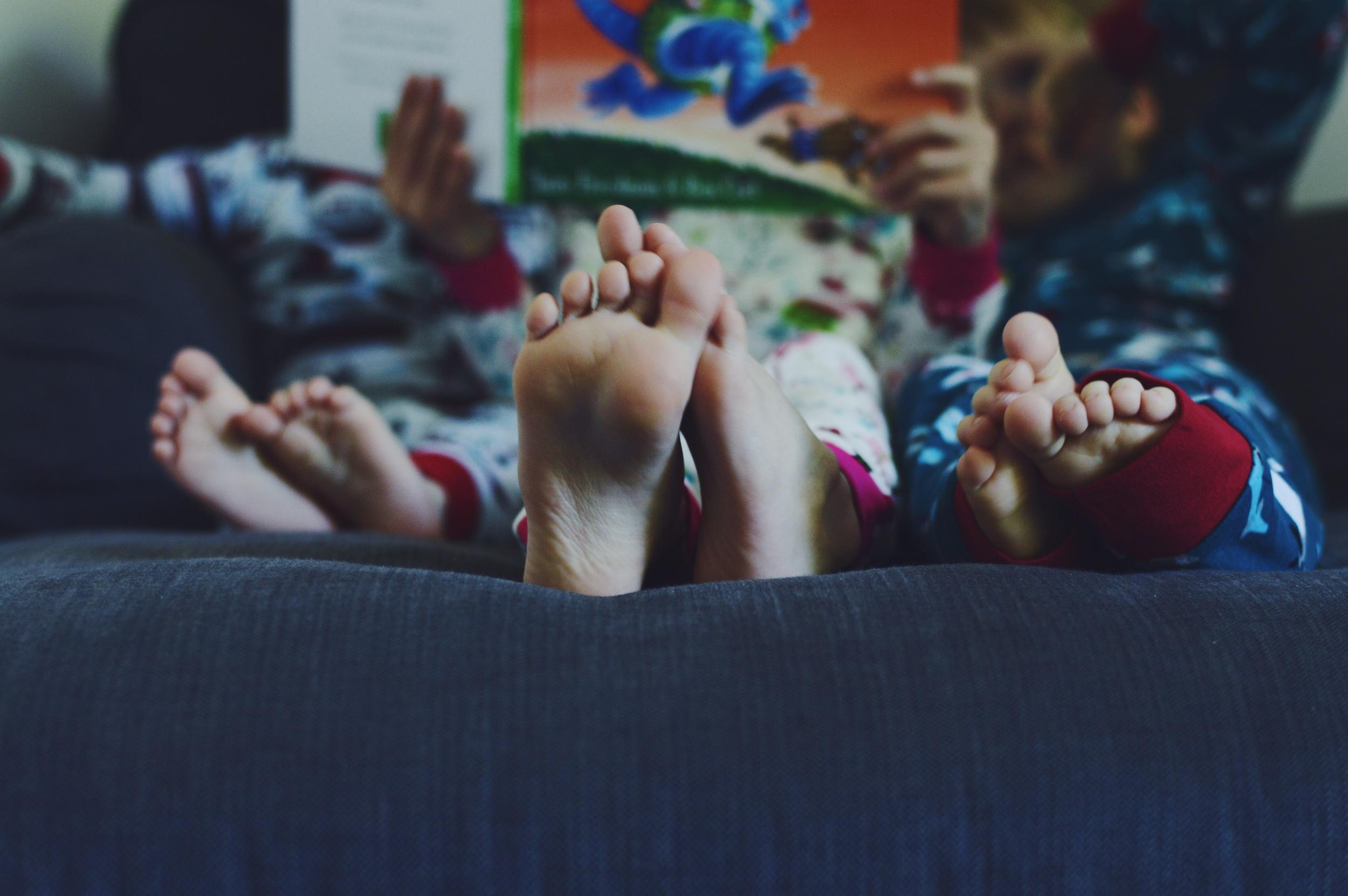 Hatley Pyjamas make for cozy story time.
