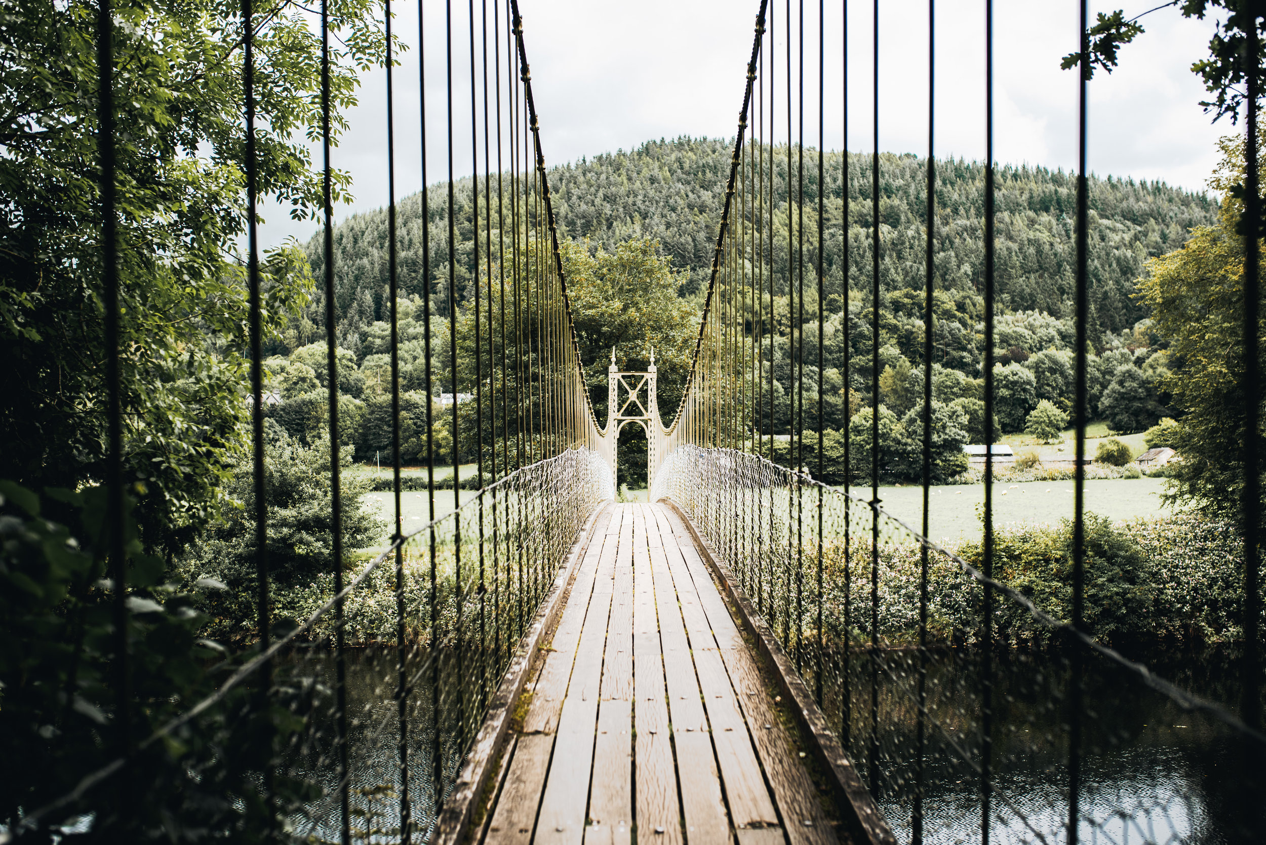 Suspension Bridge in Betws Y Coed