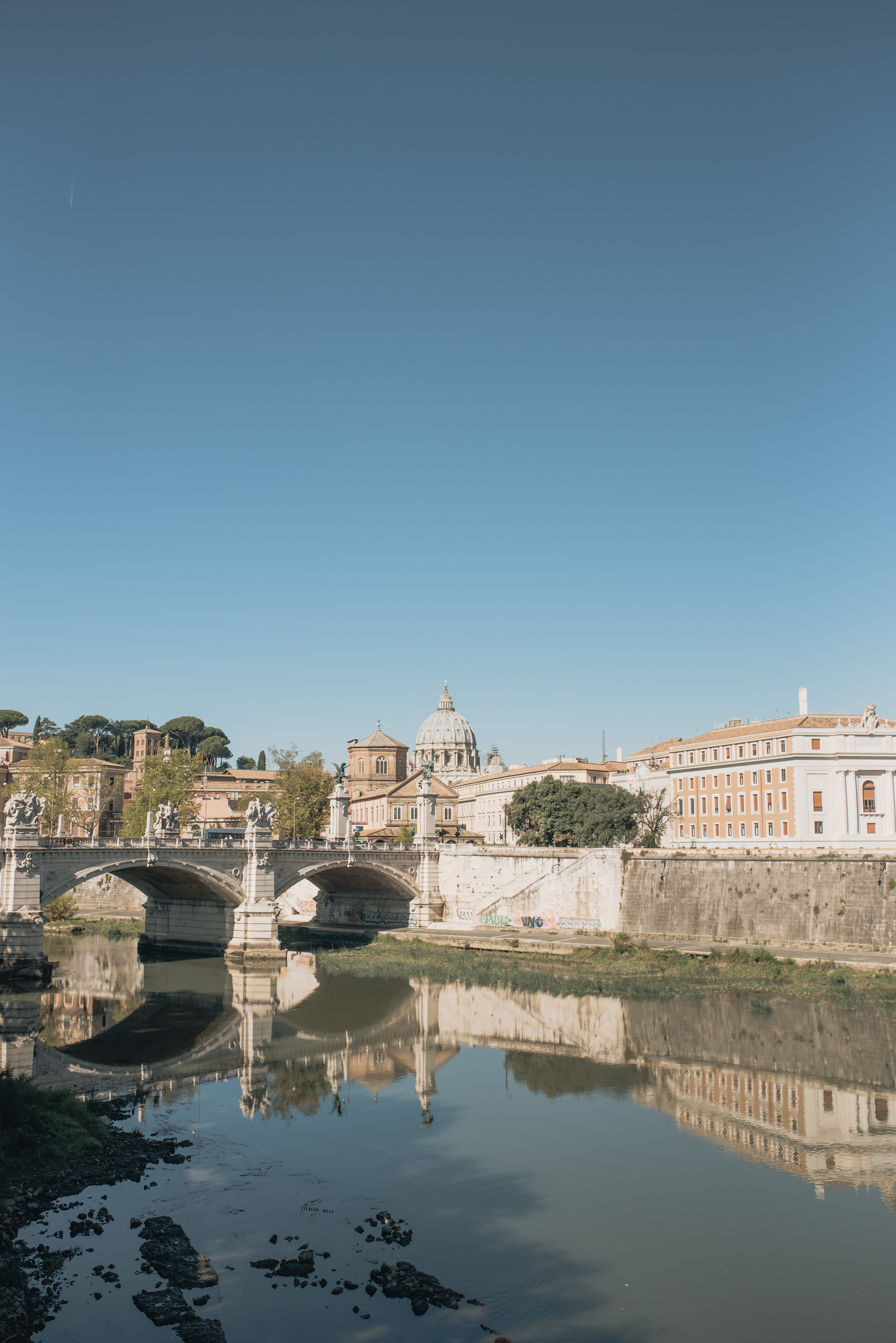 Looking across the river towards the Vatican