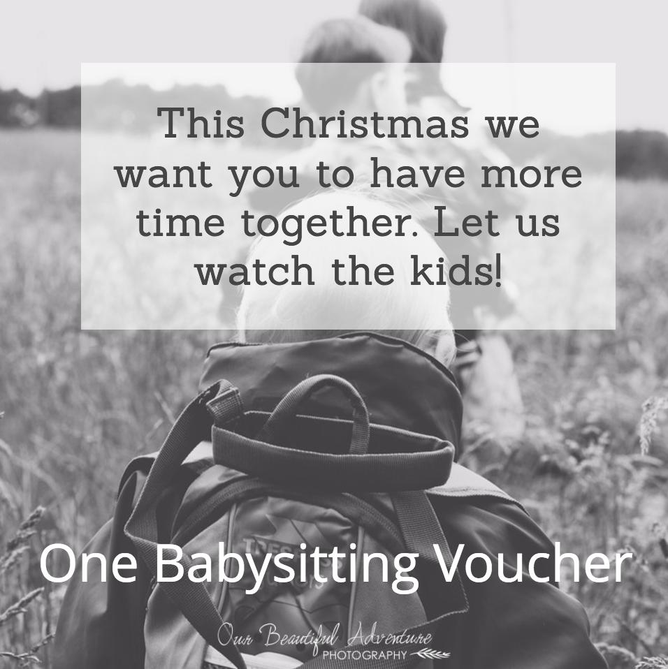 Minimalist Gift Guide - Babysitting Voucher