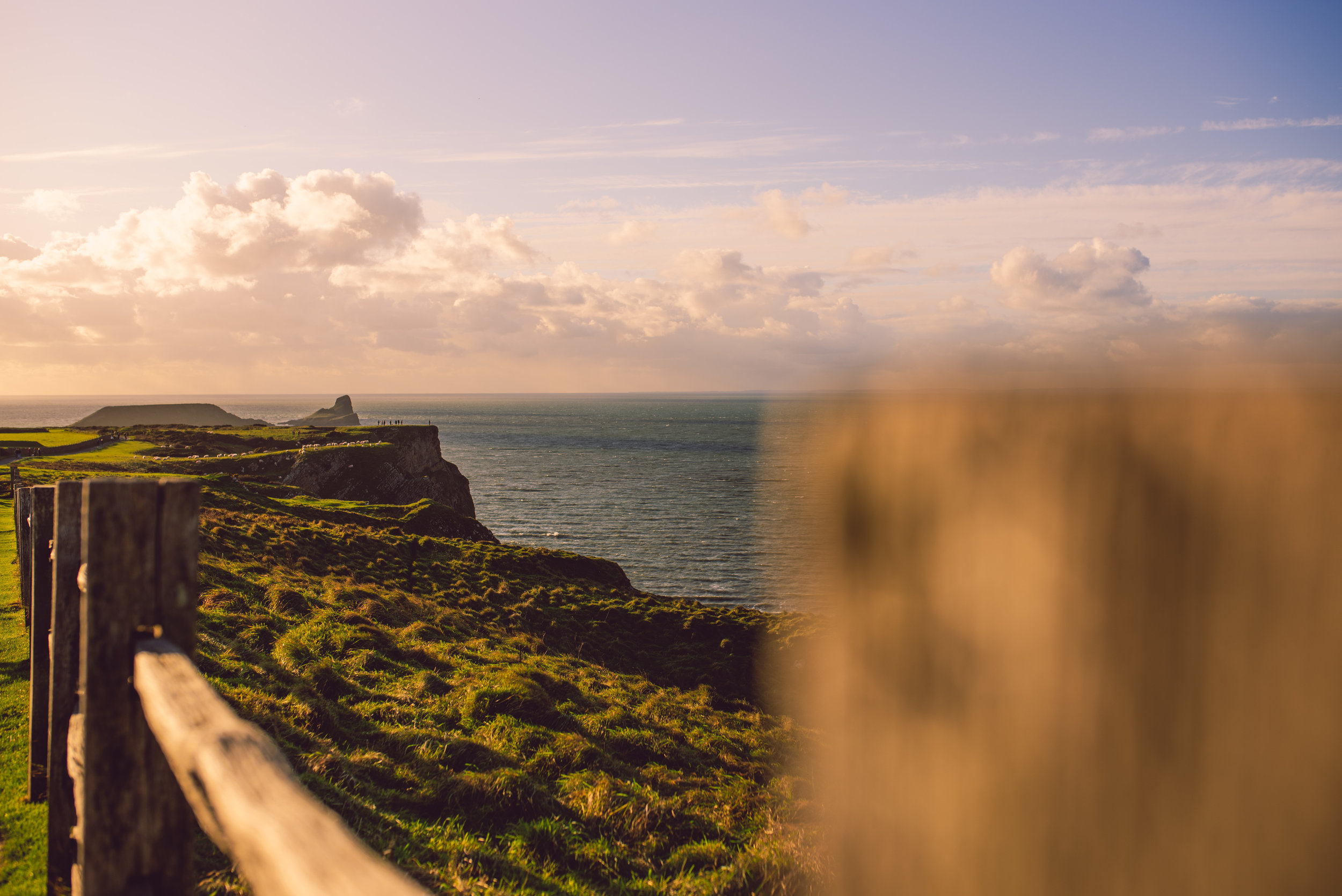 Beautiful November light at Rhossili, perfect for free outdoor family fun.
