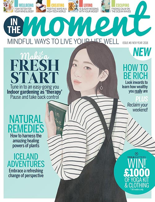 "I wrote an article for issue 8 of  In the Moment magazine . ""How to be RIch,"""