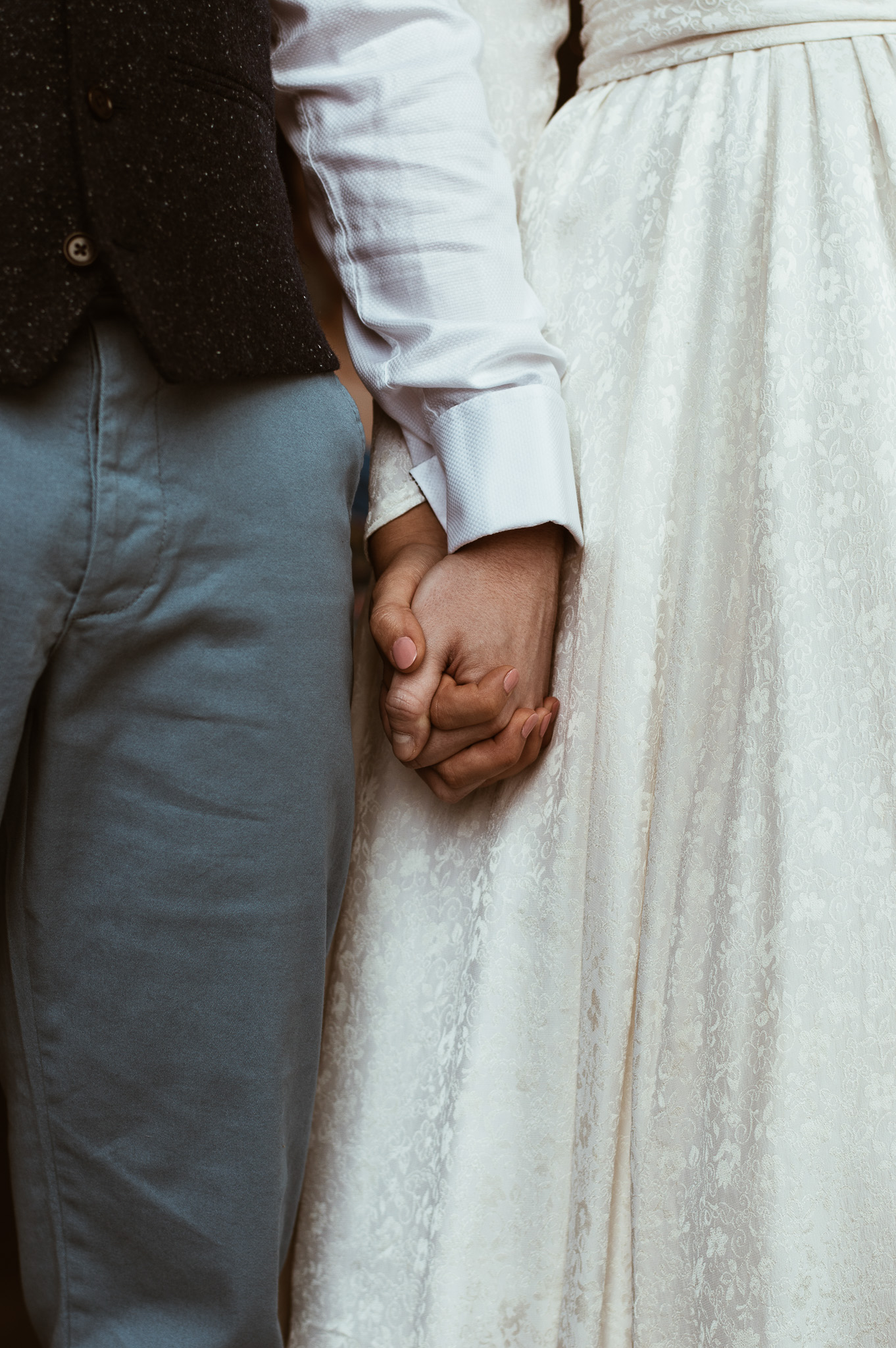 Holding Hands. Wedding Photography. Swansea, South Wales.