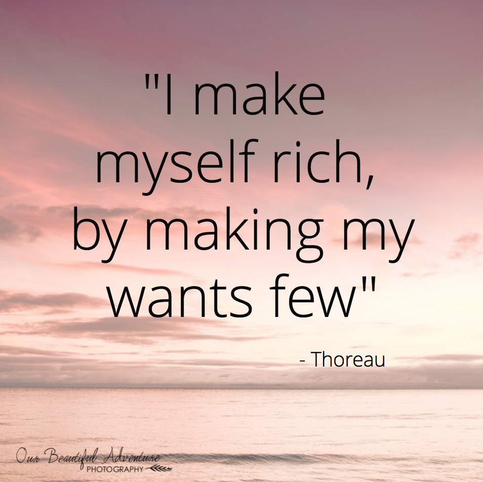 Thoreau | 10 Minimalist quotes | Blog | Our Beautiful Adventure