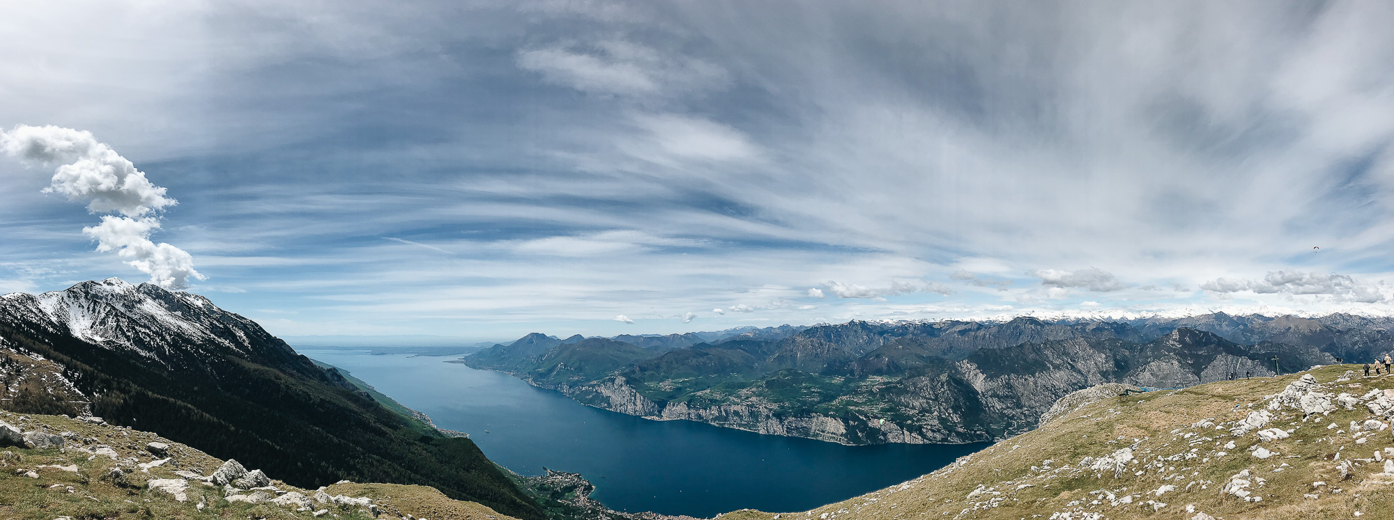 An iPhone Panoramic view from Monte Baldo.