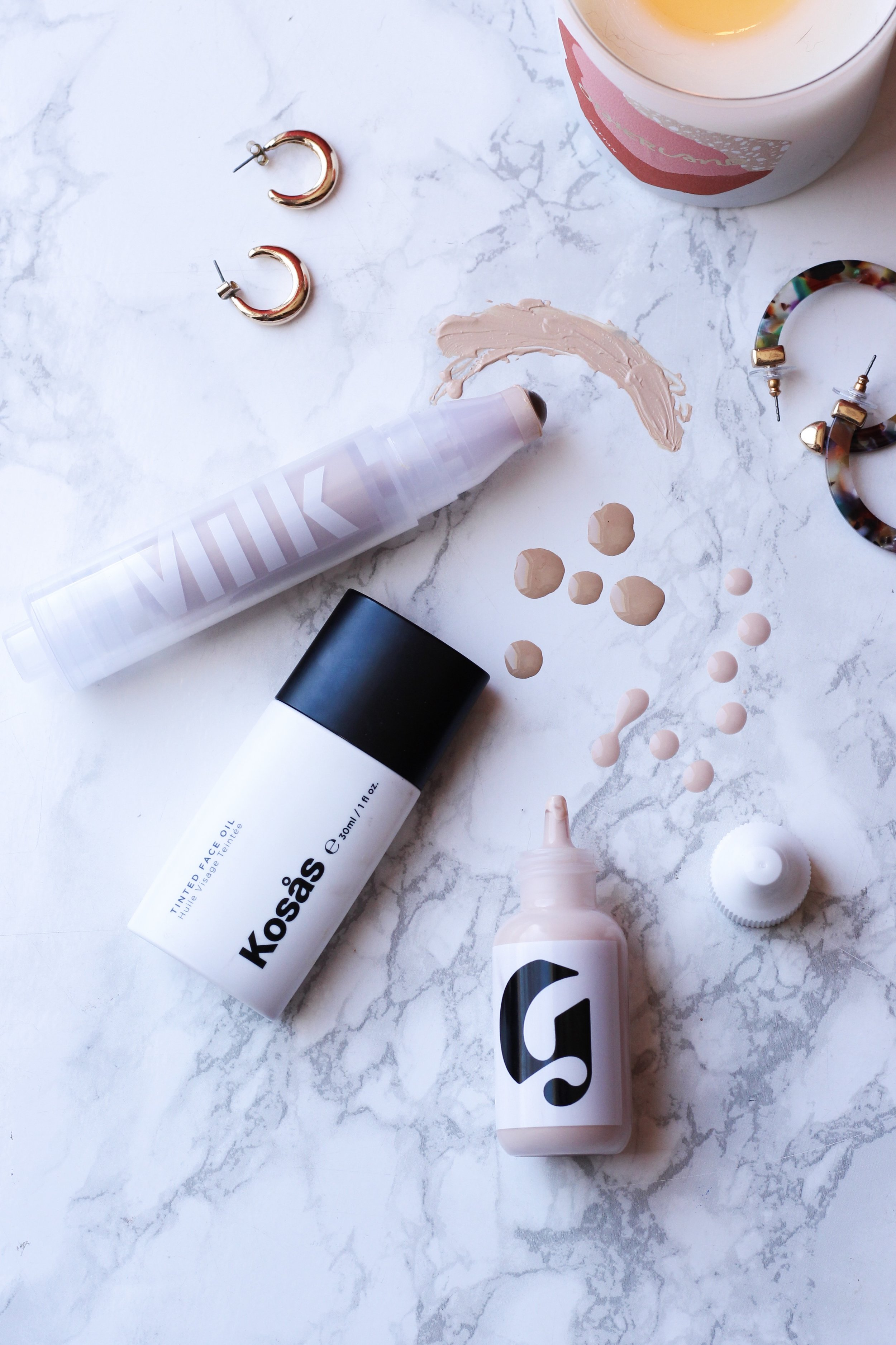 A Skin Tint Roundup Kosas Tinted Face Oil Milk Makeup Sunshine Skin Tint Glossier Perfecting Skin Tint Beauty By Kelsey