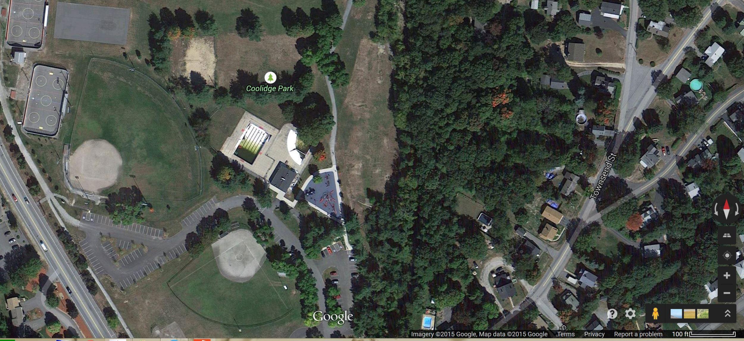 Coolidge Park Google Earth Image 2015
