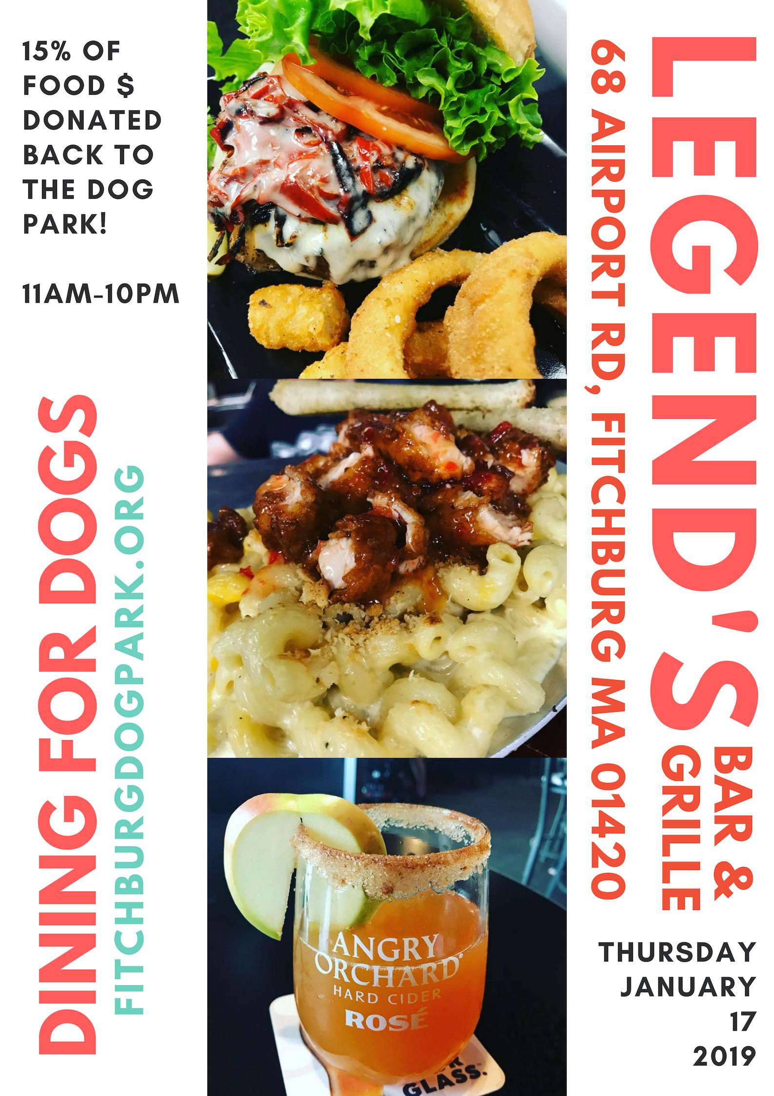 Legends 1-17-19 Dining for Dog Park