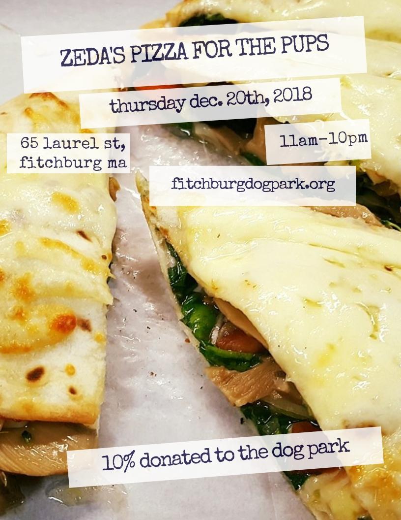 Zedas 12-20-18 Dining for Dog Park
