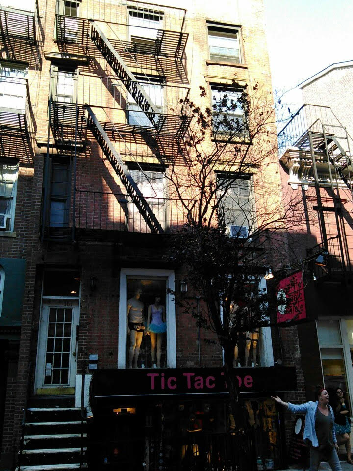 161 W. 4th St., where Dylan first rented an apartment - a top floor studio facing the back.