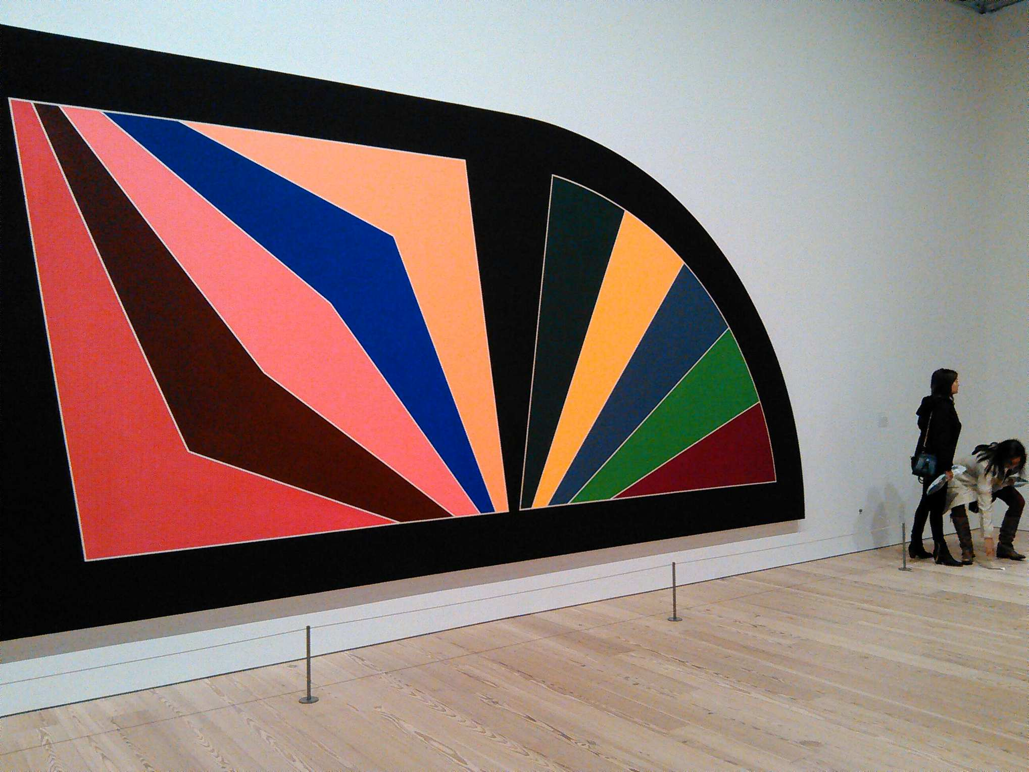 One of the more familiar Stella works on display at the Whitney.
