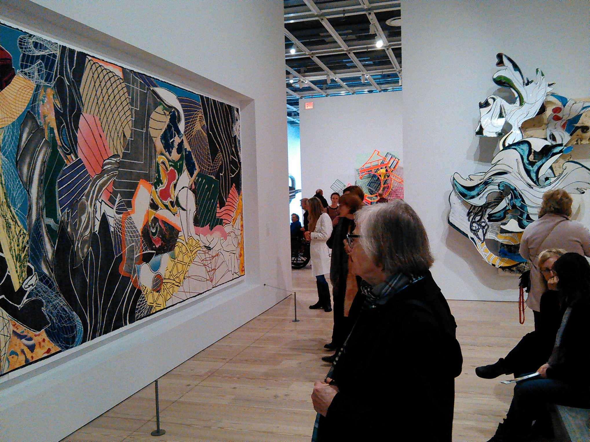 Viewing the Frank Stella retrospective at the Whitney.
