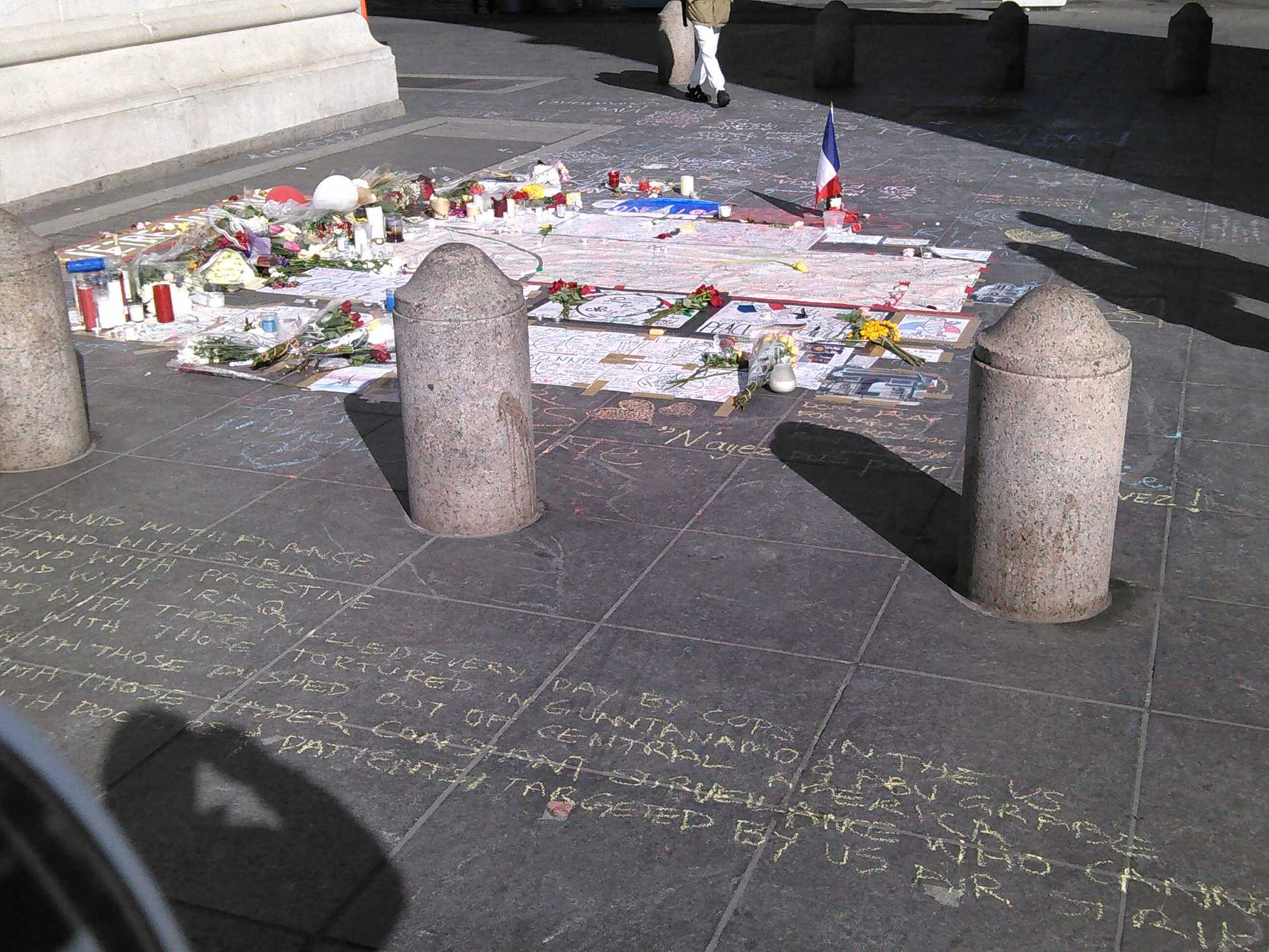 Part of the memorial under the arch.