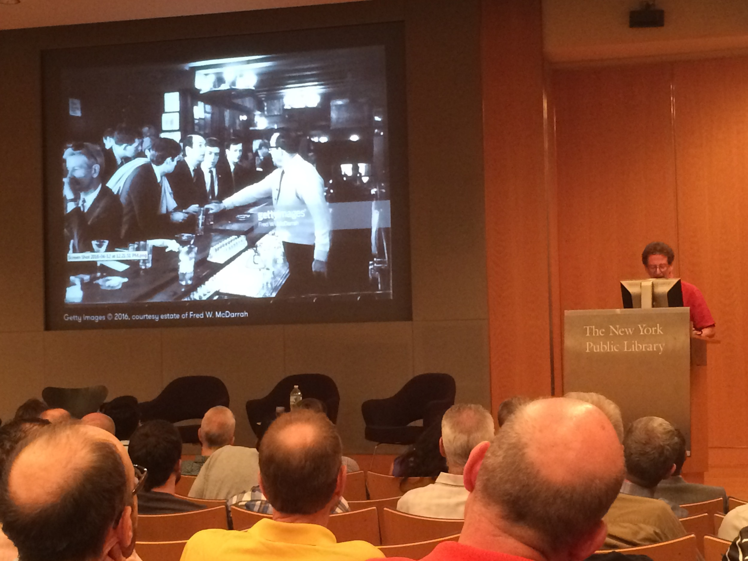 Andrew Dolkart, A Columbia professor and Director of the school's Historic Preservation Program, name checked Teddy McDarrah - grandson of the photographer we're here for - at an NYPL event tonight. See more photos on the Save The Village Tours Facebook page.