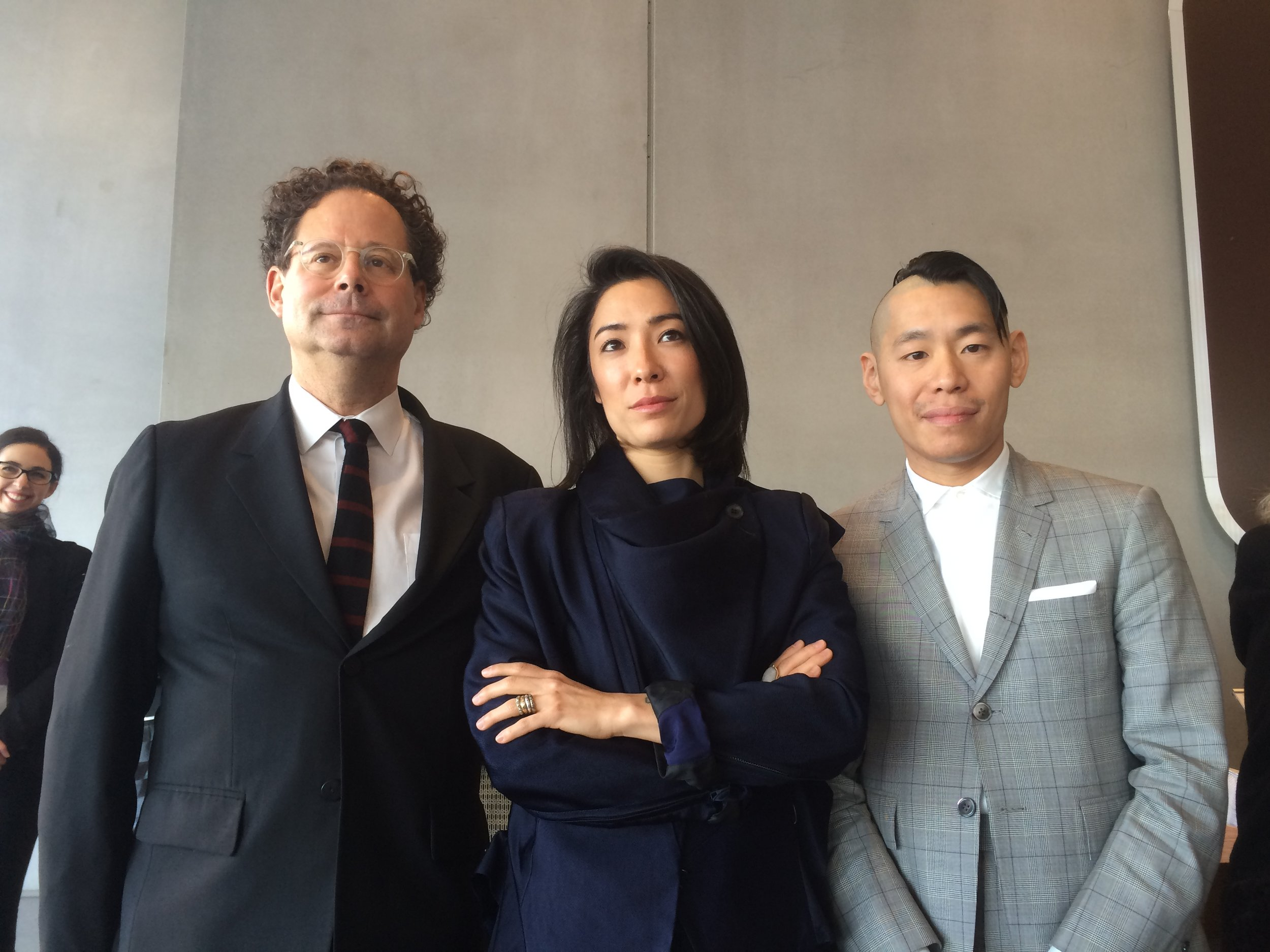 Adam D. Weinberg, the Alice Pratt Brown Director of the Whitney Museum and Biennial curators Christopher Y. Lew and Mia Locks. (Photo by Estate of Fred W. McDarrah)