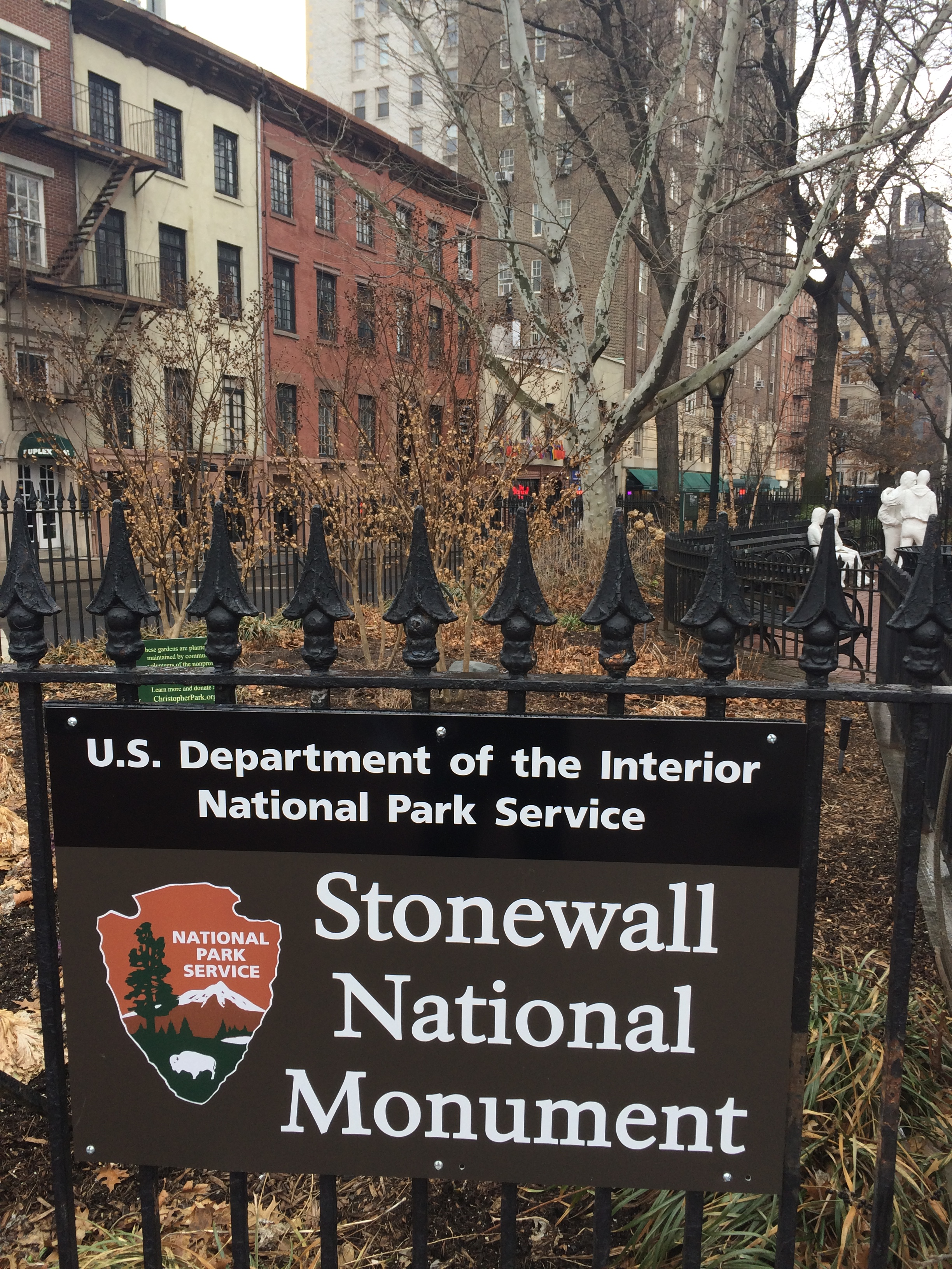 New signage at the birthplace of the modern gay rights movement.