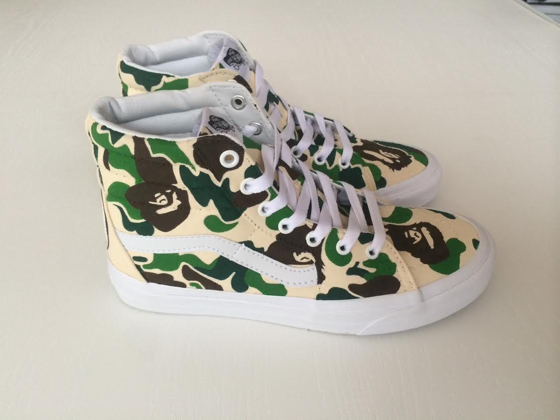 Custom BAPE Sk8 Hi by Xtian Chavez — strictly waffles.