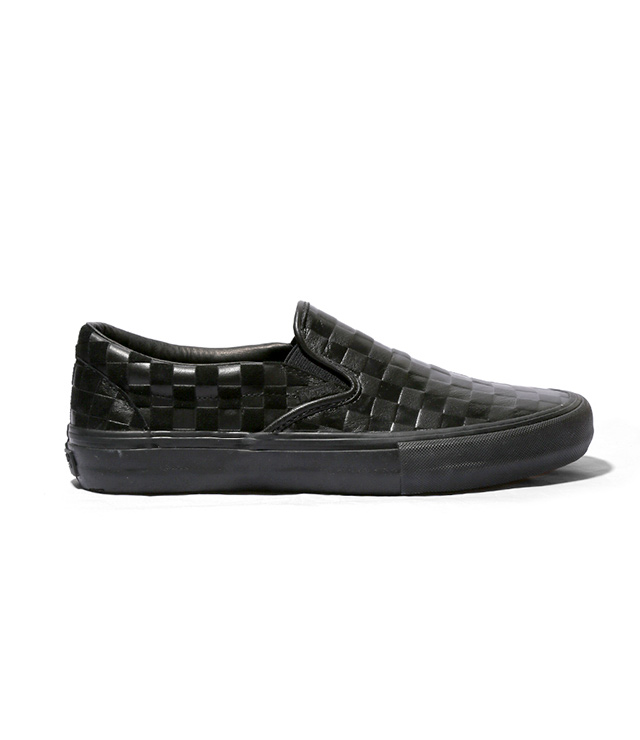 Vault by Vans x Engineered Garments Embossed Leather Checkered Slip On LX
