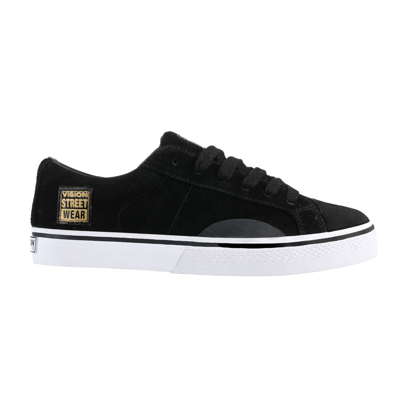 Suede Low // Black with Gold