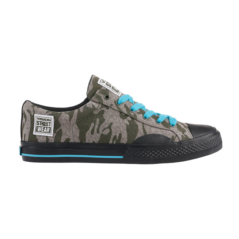 Canvas Low // Camo with Blue