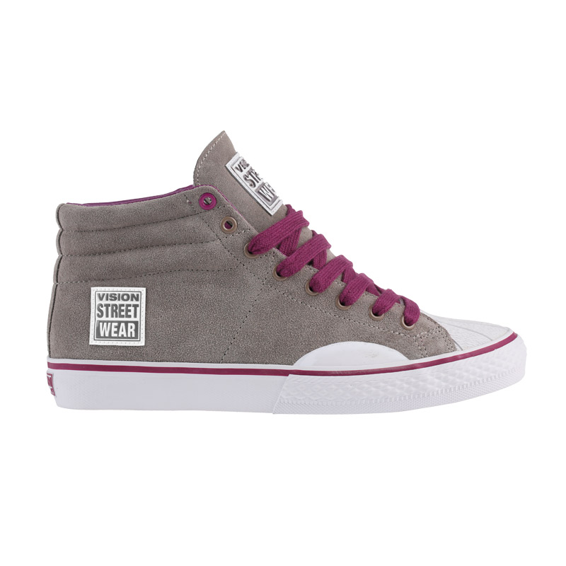 Suede High // Grey with Purple