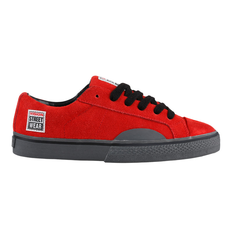 Suede Low // Red with Grey