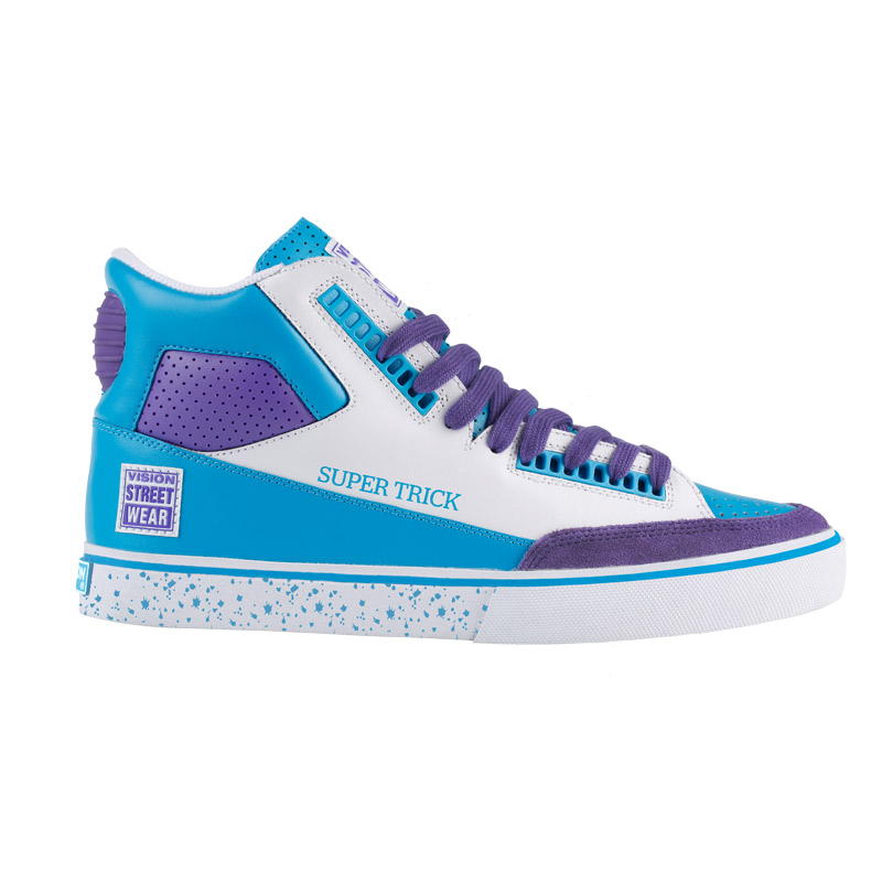 Super Trick High // White and Blue with Purple