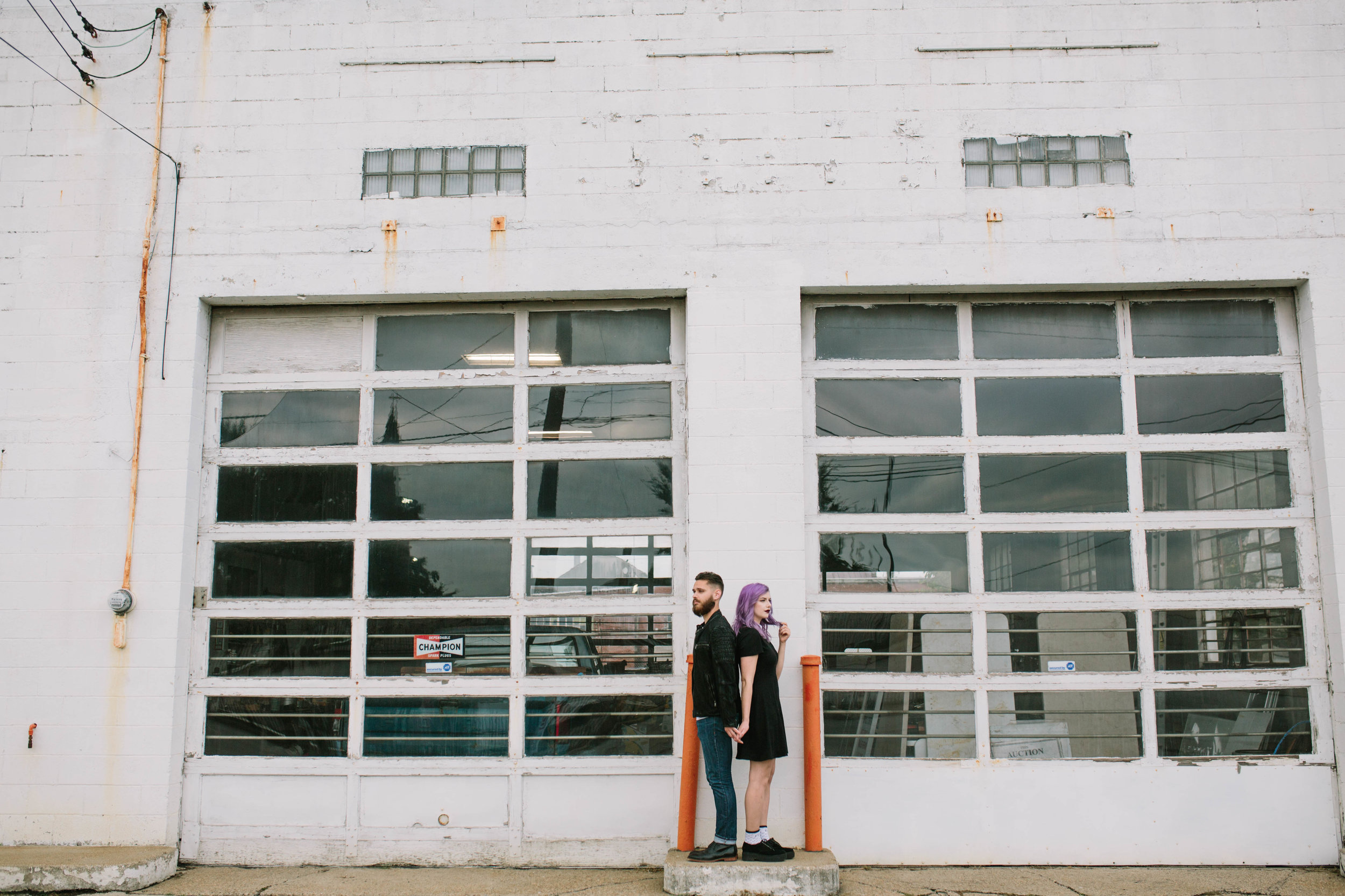 Portland, Downtown Louisville Grunge Couple's session