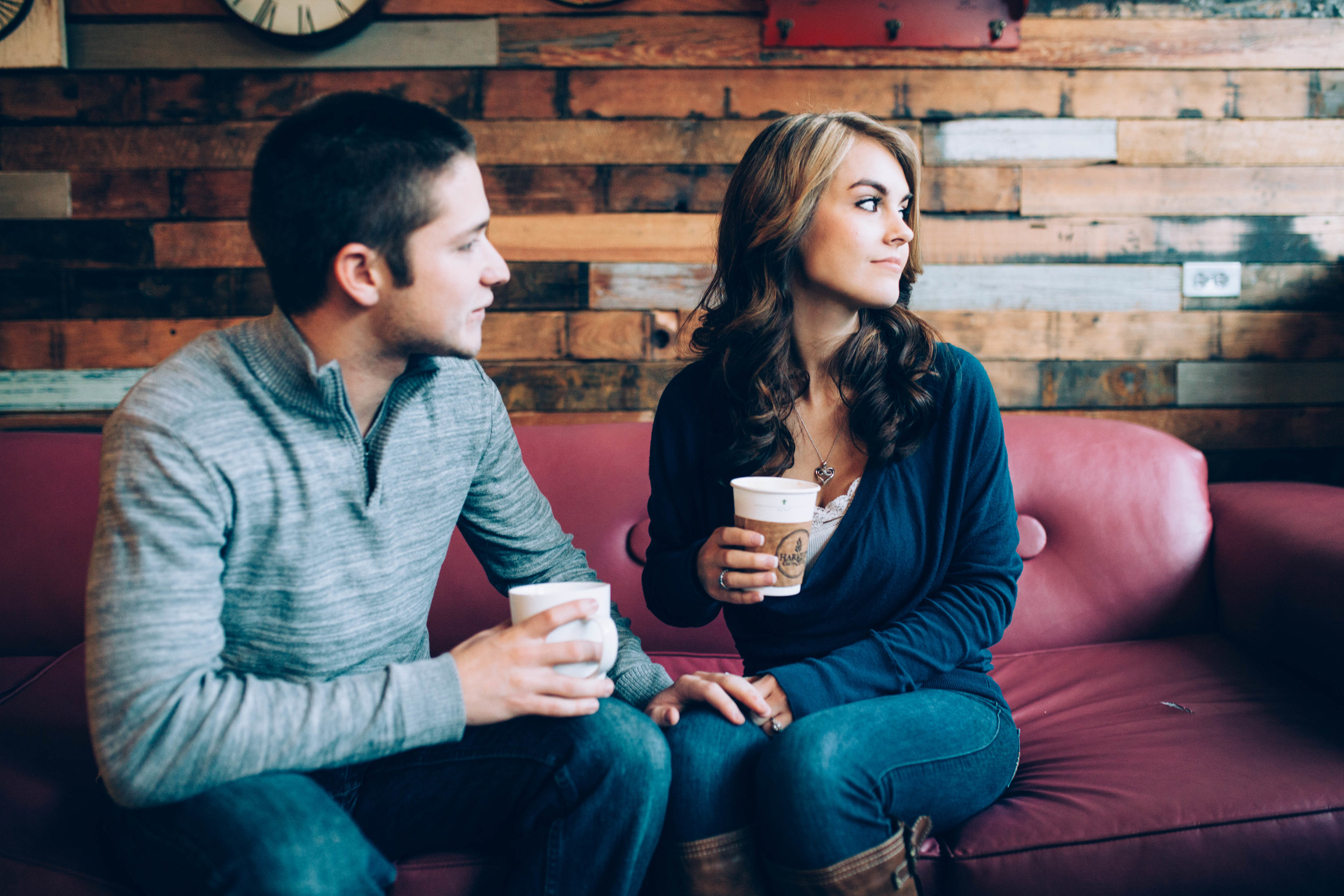 Harvest Cafe & Coffee engagement session, Shelbyville kentucky