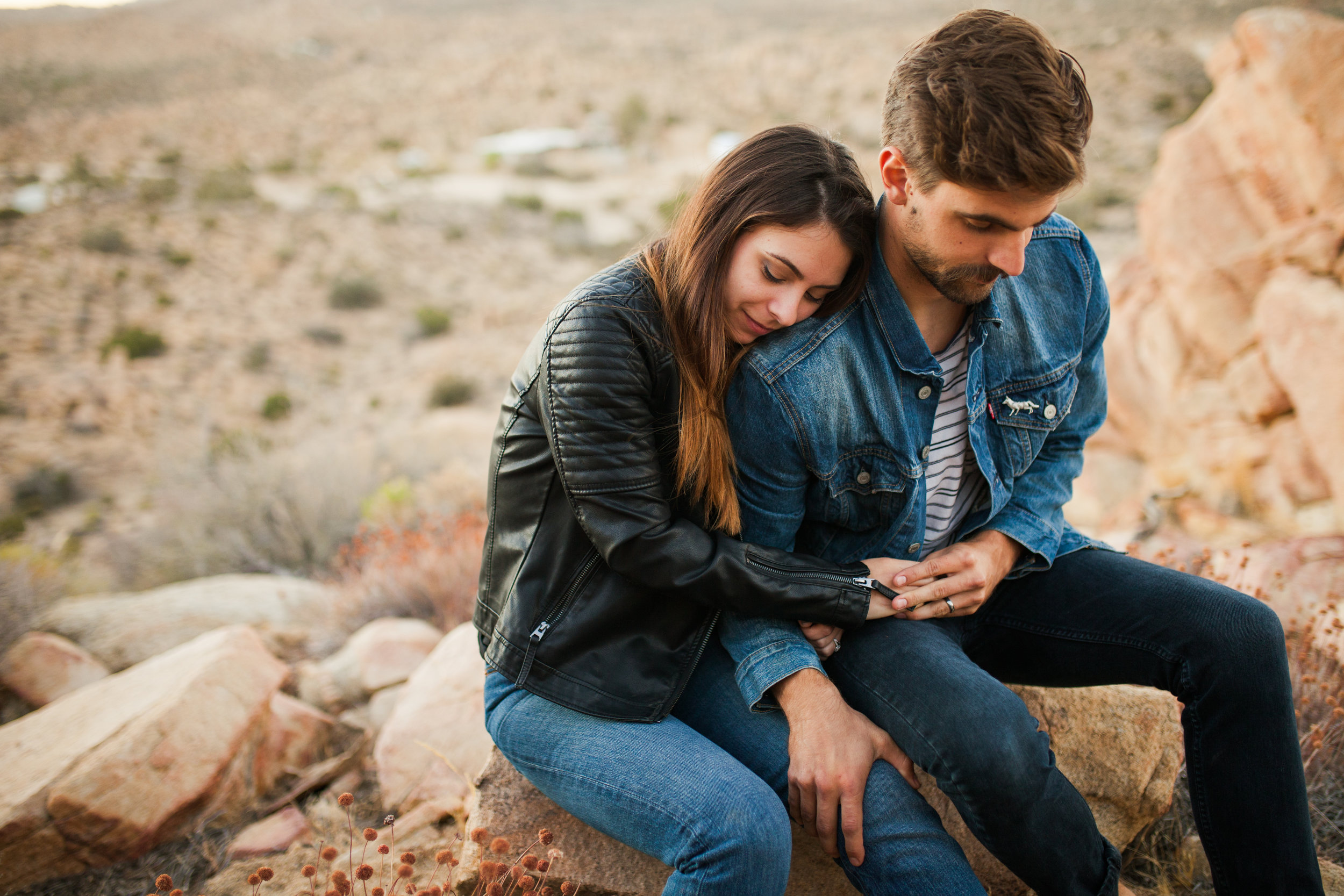 Desert Anniversary Couple's session in Joshua tree, california