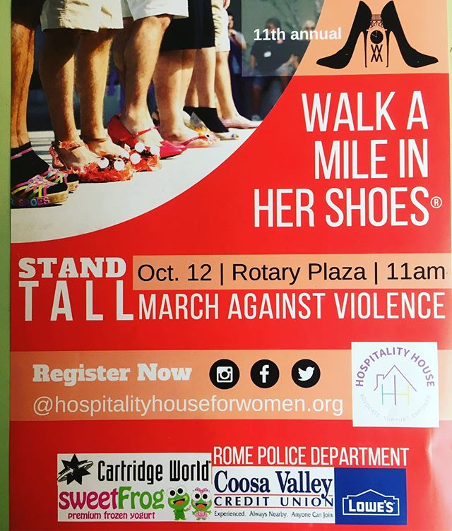 It may not seem real, but we are already gearing up for Domestic Violence Awareness Month in October. Our flyers are already in! Look out for them around town as we get closer to Oct! It's time for those who wish to sponsor us to reach out! #dvam #walkamileinhershoes2018 #WAMromega