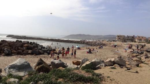 Nice, protected beachfront area at Marina Park