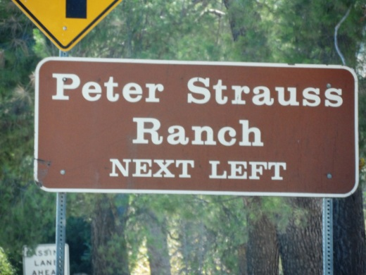 Peter Strauss Ranch sign on Kanan Road southbound before Troutdale.