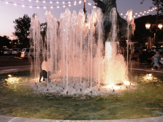 One of two fountains at The Promenade at Westlake.