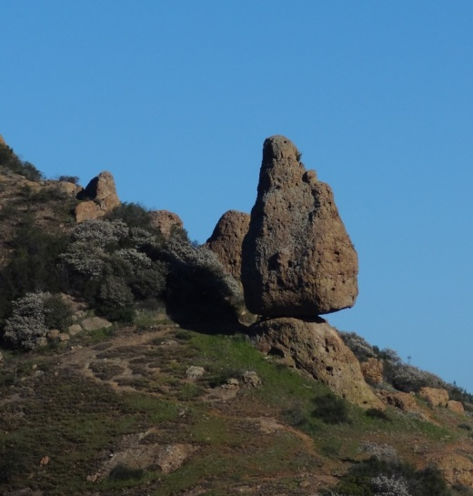 Balanced Rock in Santa Monica Mountains as seen from Mishe Mokwa trail.