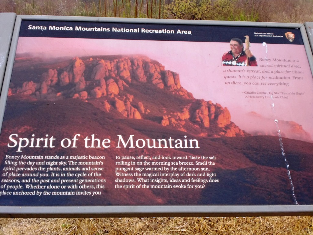 Boney Mountain sign near Satwiwa Center