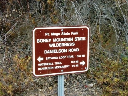 NPS Boney Wilderness sign at bottom of Canyon.