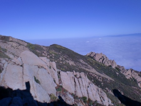 Pretty much at the top of the world at this point.Time to head back down...