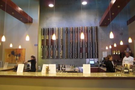 Huge wine tasting bar at Herzog Wine Cellars