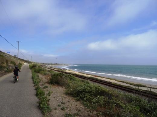 Ventura bike path headed south from Emma Wood State Beach towards Ventura Beach