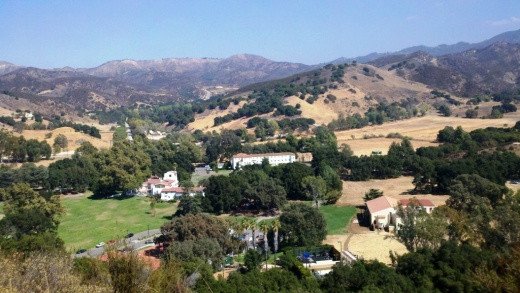 View of King Gillette Ranch from Inspiration Point, south of the Gillette Mansion