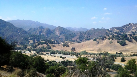 View from Inspiration Point west towards Malibu Creek State Park.