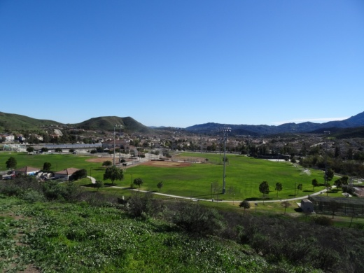Views of Dos Vientos Community Park from the Park View Trail.